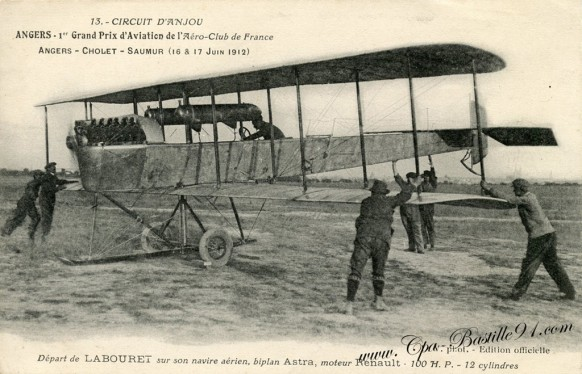 Angers-1er grand prix d'aviation de l'aéro-club de France - Cliquez sur la carte pour l'agrandir et en voir tous les détails