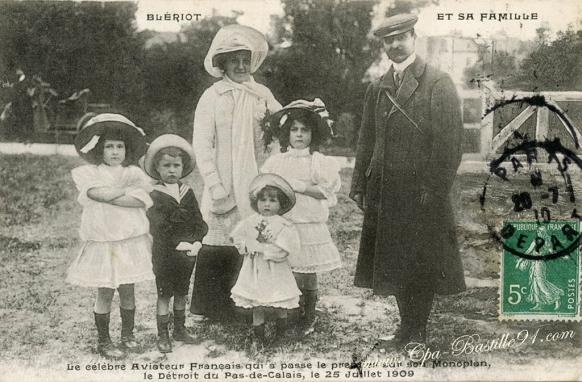 Bleriot et sa famille-le celebre aviateur français