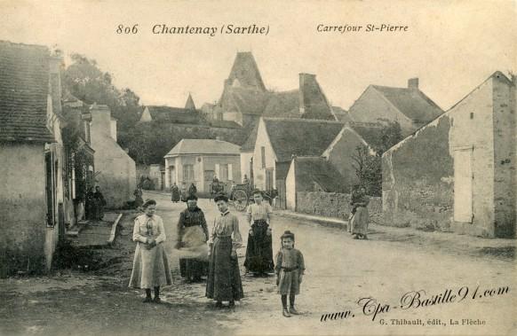Chantenay-Villedieu-Carrefour Saint-Pierre - Cliquez sur la carte pour l'agrandir et en voir tous les détails