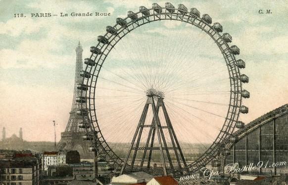 La grande roue de l'exposition-universelle de 1900 - Cliquez sur la carte pour l'agrandir et en voir tous les détails