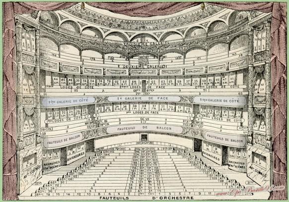 Plan du théâtre de l'Odéon en 1909 - Cliquez sur la carte pour l'agrandir et en voir tous les détails