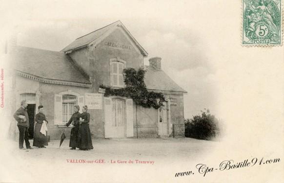 Vallon-sur-Gée-la Gare du tramway - Cliquez sur la carte pour l'agrandir et en voir tous les détails