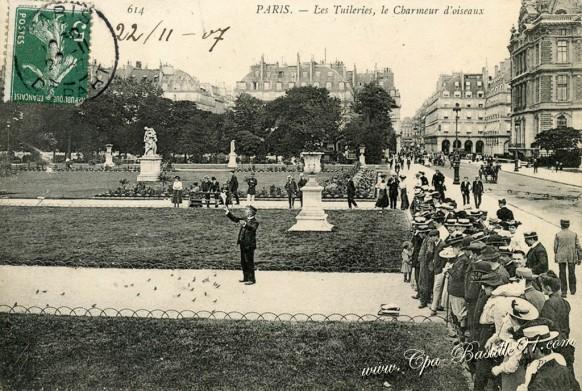 01arrt-le Charmeur-d'oiseaux Monsieur Pol aux tuileries  - Cliquez sur la carte pour l'agrandir et en voir tous les détails