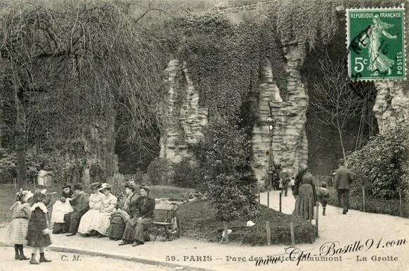 19arrt-Paris-carte postale -Parc de buttes chaumont-la Grotte - Cliquez sur la carte pour l'agrandir et en voir tous les détails