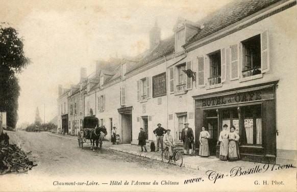 41-Chaumont-sur-Loire-Hotel de l'avenue du Château - Cliquez sur la carte pour l'agrandir et en voir tous les détails