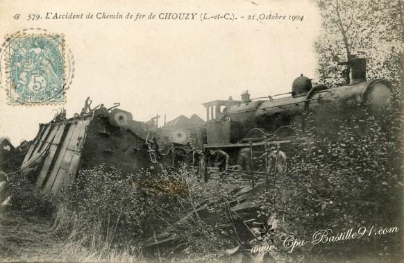 41-Chouzy-accident de chemin de fer le 21 octobre 1904 – Cliquez sur la carte pour l'agrandir et en voir tous les détails