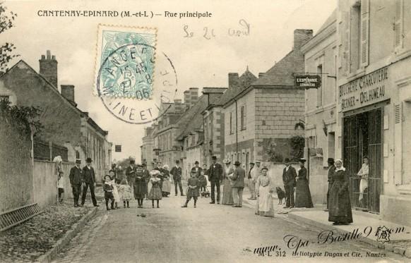 Cantenay-Epinard-Rue-Principale-Maine et Loire- Cliquez sur la carte pour l'agrandir et en voir tous les détails