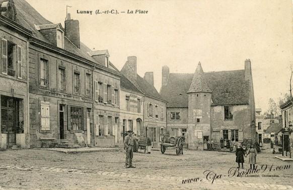 Lunay - La Place - Cliquez sur la carte pour l'agrandir et en voir tous les détails