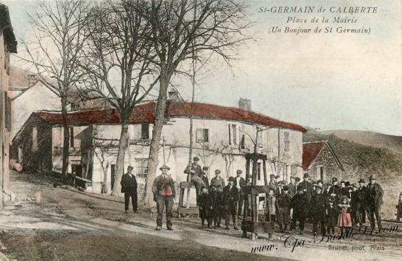 Saint Germain de Calberte-Place de la Mairie-Un bonjour de Saint Germain - Cliquez sur la carte pour l'agrandir et en voir tous les détails
