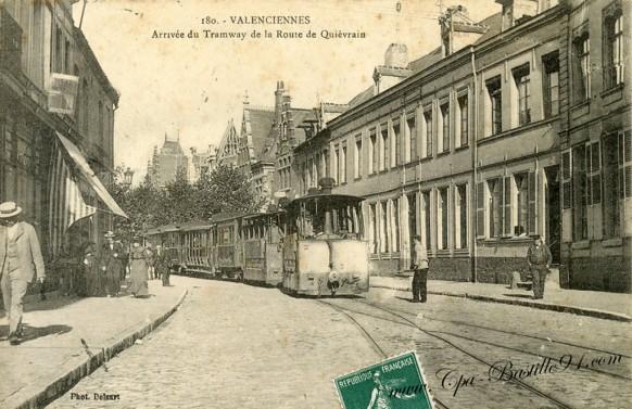 Valenciennes-arrivée du Tramway de la route de Quièvrain - Cliquez sur la carte pour l'agrandir et en voir tous les détails