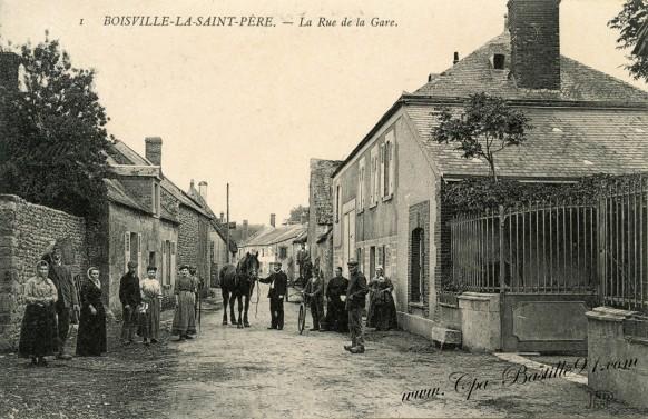 28-Boisville-La-Saint-Père-la rue de la Gare - Cliquez sur la carte pour l'agrandir et en voir tous les détails