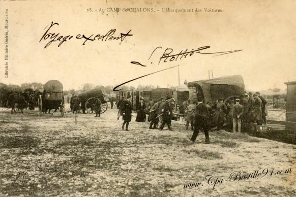 51-Au Camp de Chalons-Debarquement des Voitures - Cliquez sur la carte pour l'agrandir et en voir tous les détails