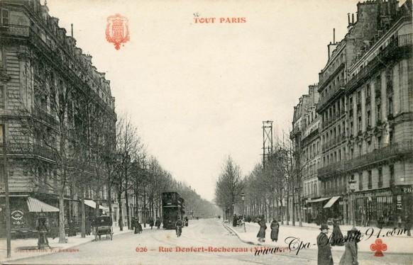 Tout-Paris-rue Denfert-Rochereau-14art - Cliquez sur la carte pour l'agrandir et en voir tous les détails
