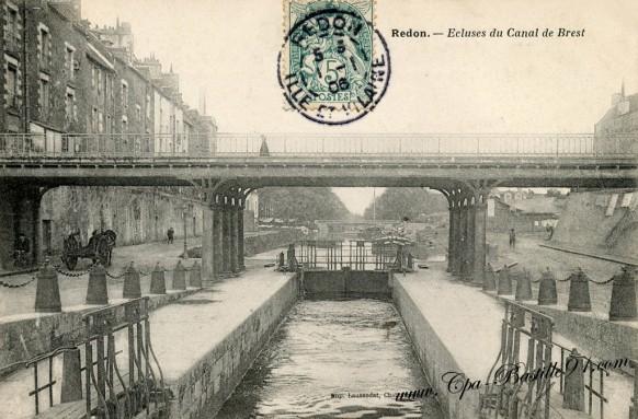 Redon - l'écluse du canal de Brest