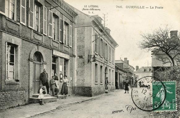 Carte postale Ancienne de Ourville- la Poste