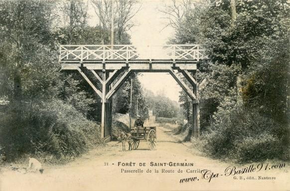 78-Foret de saint-Germain-passerele de la route de Carrières