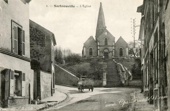 78- Sartrouville - l'égliseet le tombereau