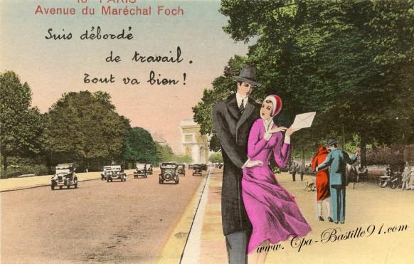 Paris-Avenue du Maréchal Foch-suis débordé de travail - Tout va bien