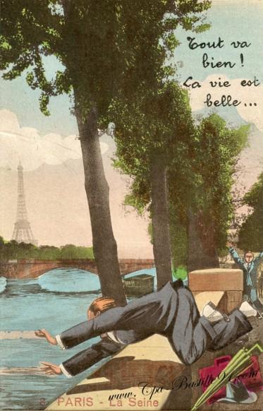 Paris-La Seine-tout va bien-la vie est belle