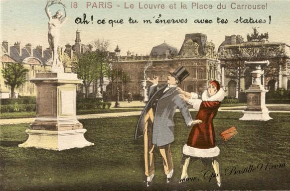 Paris - Le Louvre et la place du Carrousel - Ah ! ce que tu m'énerves avec tes statues !