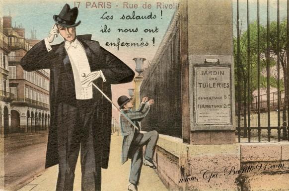 Paris-rue de rivoli-les salauds ils nous ont enfermés