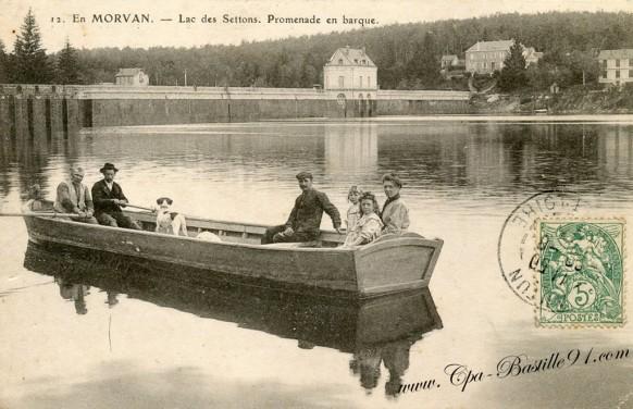 Morvan-lac des settons-promenade en barque