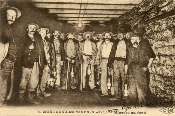 Montceau-les-mines-mineurs de fond