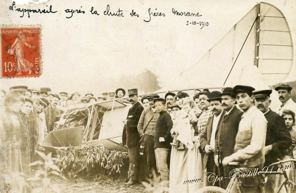 Boissy-Saint-Leger - l'Accident d'avion des frères Morane le 5 octobre 1910