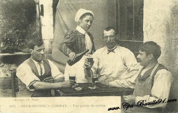 Cerisay-Une Partie de carte-Deux Sèvres