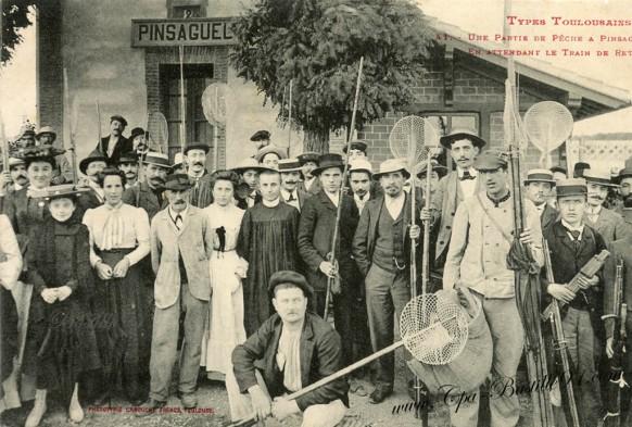 Types Toulousains-Une Partie de pêche a Pinsaguel