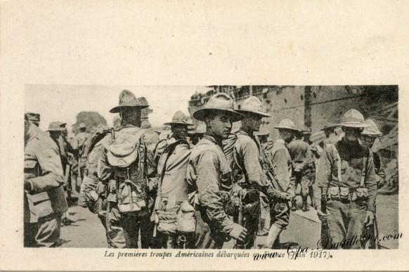 les premières troupe américaine débarques en France juin 1917