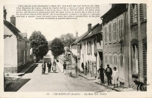 Courtenay-La rue des Ponts - Cliquez sur la carte pour l'agrandir et en voir tous les détails