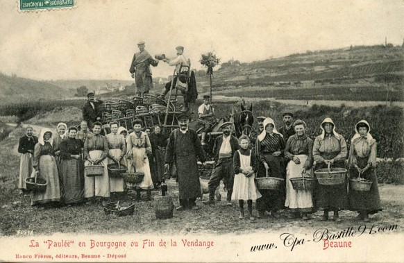 Beaune - La Paulée en bourgogne ou fin de la Vendange