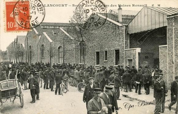 Billancourt-Sortie des ouvriers des usines Renault
