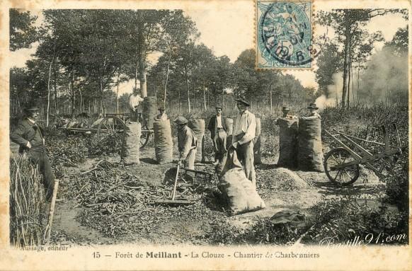 Forêt-de-Meillant-La-Clouse-Chantier-de-Charbonniers