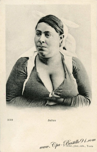carte-postale-ancienne-Yom-Kippour-femme-Juive.