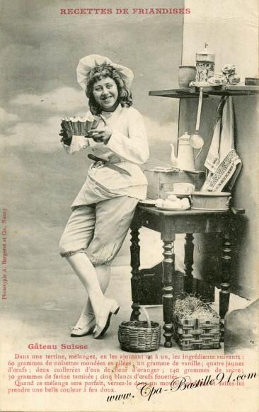 Recette du Gâteau Suisse en 1900
