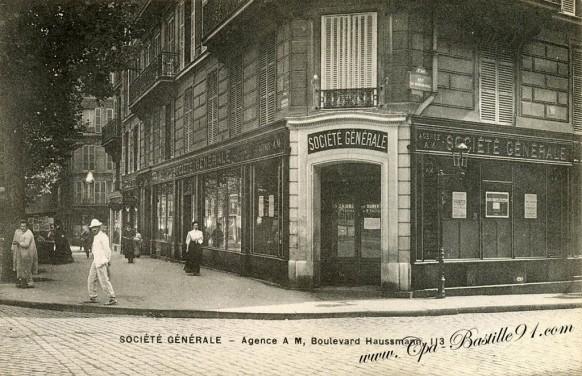 Banque de la Societé générale - Agence du 113 boulevard Haussmann