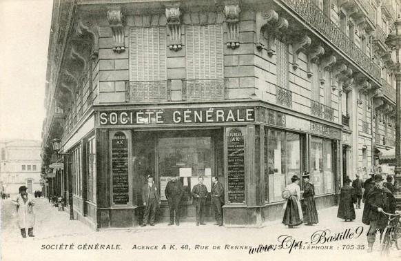 Banque de la Societé Générale - Agence AK 48 rue de Rennes