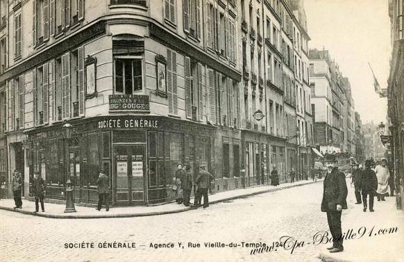 Banque de la Societé generale-agence rue vielle du temple