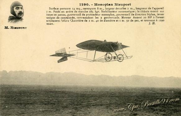 carte postale ancienne-Monoplal-M-Nieuport