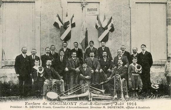 Fanfare de Cocumont en juin 1914