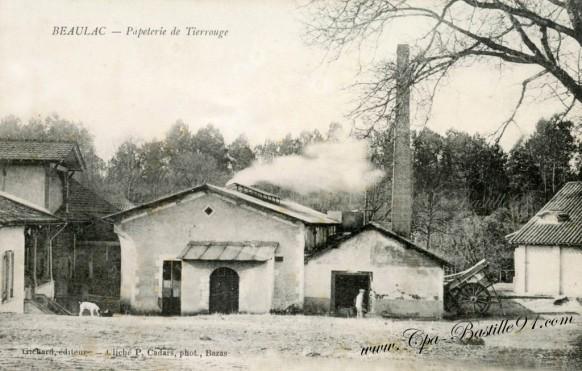 Carte postale ancienne-Beaulac-Papeterie de Tierrouge