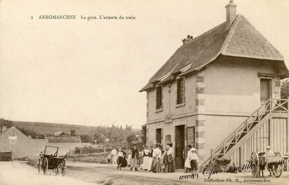 La-Gare-Arromanches - l'Attente-du-Train