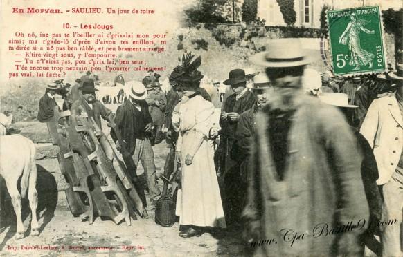 En Morvan-Saulieu-un jour de Foire-Les Jougs