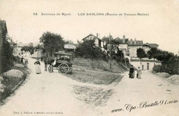 Environs de Moret-Les sablons-routes de Veaux-Nadon