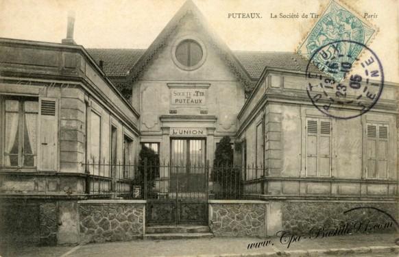 Carte postale ancienne-Puteaux-La Société de Tir