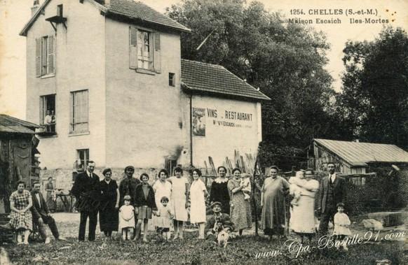 Chelles-Maison Escaich-iles-Mortes - Cliquez sur la carte pour l'agrandir et en voir tous les détails