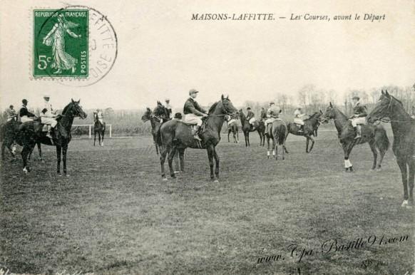 Maisons-Laffitte-Les courses-avant le depart