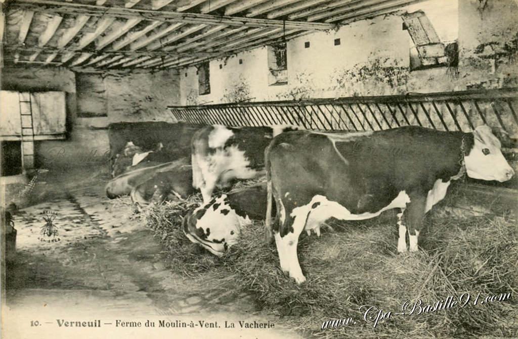 verneuil ferme du moulin vent la vacherie cartes postales anciennes. Black Bedroom Furniture Sets. Home Design Ideas